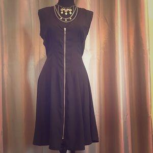 H & M Black Zipper party/work/casual dress